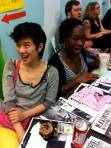 Me and Osa Atoe at the 2012 Chicago Zine Fest, holding down the POC Zine Project/Maximumrocknroll/Slander/Shotgun Seamtress table.